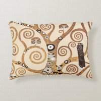 Tree of Life by Gustav Klimt Decorative Pillow