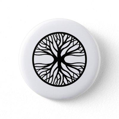 Tree Of Life Tattoo Pinback Button by WhiteTiger_LLC. Tree Of Life Tattoo