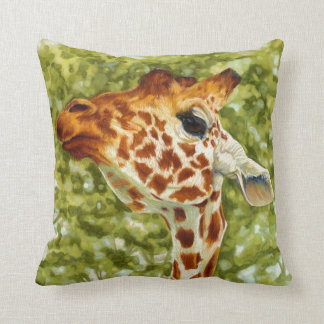 Giraffe Face Pillows  Decorative  Throw Pillows  Zazzle