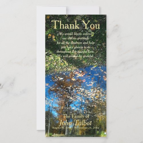 Trees Reflection Autumn Sympathy Thank You P
