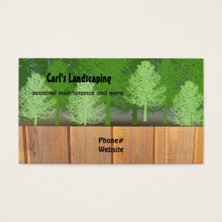 yard work business cards & templates