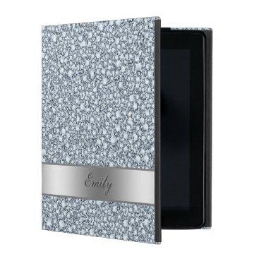 Trendy Encrusted Diamonds Glitter Pattern iPad Cover