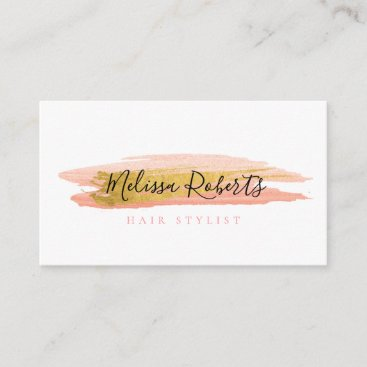 trendy hair stylist business card