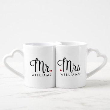 Trendy Script Mr. and Mrs. Coffee Mug Set