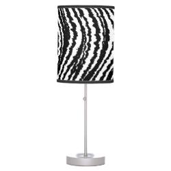 Trendy Stylish Black and White Zebra Stripes Table Lamps