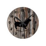 Trendy Wood Faux Basset Hound Wall Clock