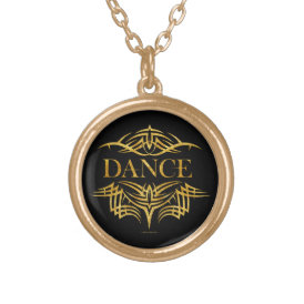 Tribal Dance Gold Plated Necklace