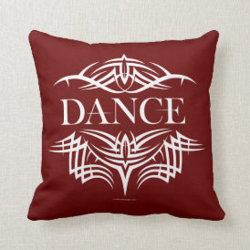 Tribal Dance (plain) Throw Pillow
