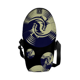 Tribal Dragons Yin Yang (Customizable) Courier Bag