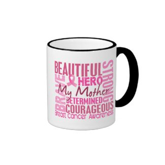 Tribute Square Mother Breast Cancer Coffee Mug