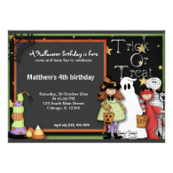Trick or Treat Halloween Birthday Invitation