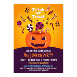 Trick or Treat Jack-O-lantern Halloween Party Invitation