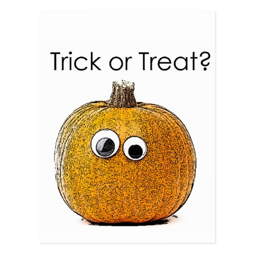 Trick or Treat Pumpkin Postcard
