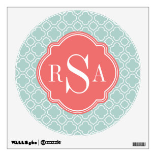 coral mint wall decals stickers zazzle