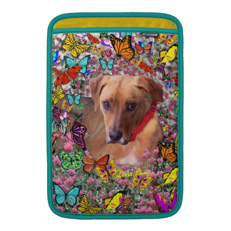 Trista the Rescue Dog in Butterflies Sleeve For MacBook Air