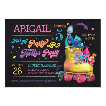 Trolls Snack Pack Birthday Invitation