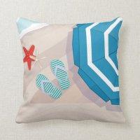 Tropical beach throw pillow | Zazzle