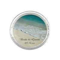 Tropical Beach Wedding Ring | Zazzle