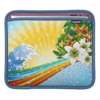 Tropical Exotic Summer Holidays Sleeves For iPads