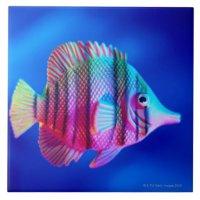 Tropical Fish Ceramic Tile