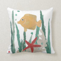 Tropical Fish Nautical Style Pillow