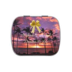 Tropical Gazebo Wedding Candy Tin