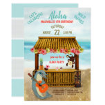 Tropical Hawaiian Luau Beach Wild Things Birthday Invitation