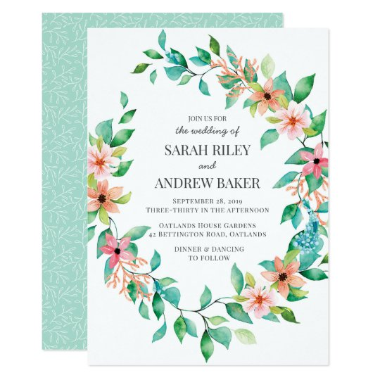 Tropical Island Luau Wedding Invitation