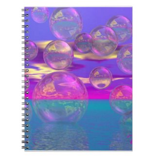 Tropical Morning – Magenta and Turquoise Paradise notebook