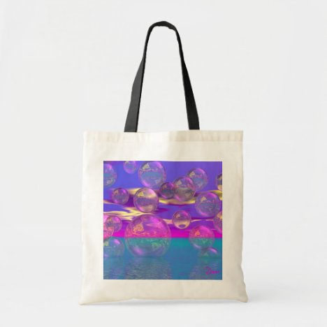 Tropical Morning – Magenta and Turquoise Paradise Tote Bag