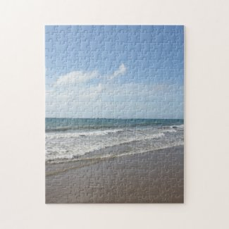 Tropical Paradise Caribbean Beach on Tobago Jigsaw Puzzle