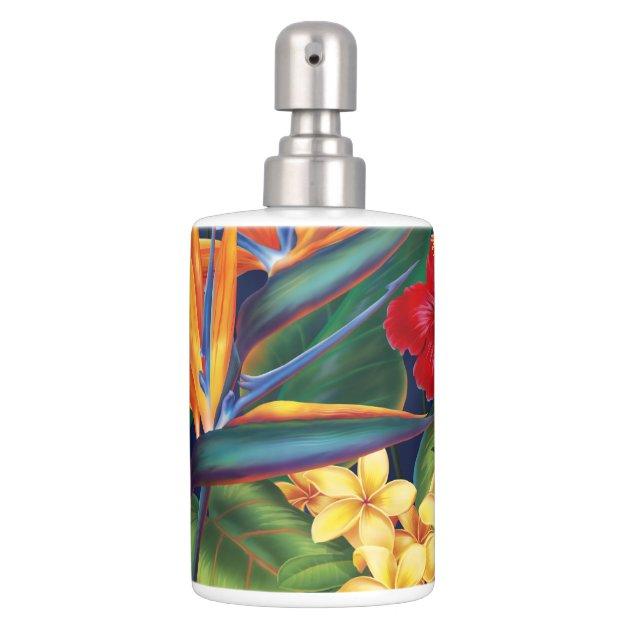 Tropical Paradise Hawaiian Bathroom Accessories Bathroom
