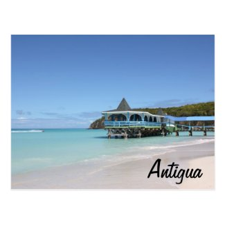 Tropical Paradise Pier on Antigua Post Cards