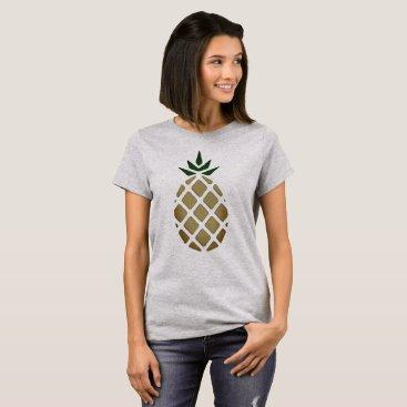Tropical Pineapple Stencil T-Shirt