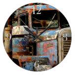 Truckers Never Die Large Clock