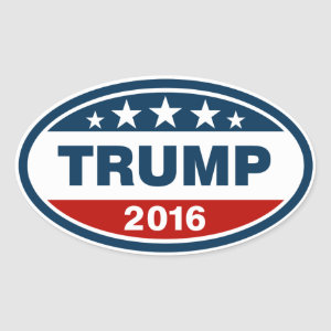 Trump 2016 oval sticker