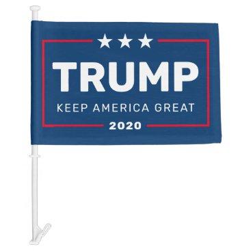 Trump 2020 Keep America Great - classic design Car Flag