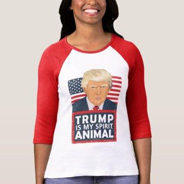 Trump is My Spirit Animal Funny Design T-Shirt