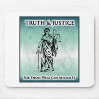 Truth & Justice - Lady Justice Mousepad
