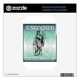 Truth & Justice - Lady Justice Skin For iPhone 2G