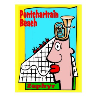 Tuba Head Remembers Pontchartrain Beach Postcard
