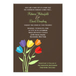 Tulip Flower Rainbow Colors Wedding Invitation