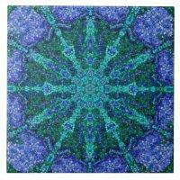 Turquoise Azure Mosaic Tile | Zazzle