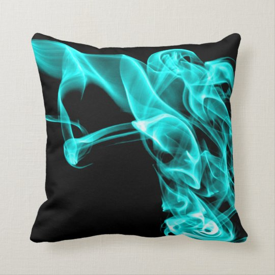 Turquoise Black Modern Design Pillow Cushion  Zazzle