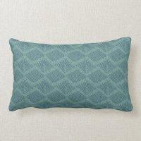 Turquoise Boho pattern Lumbar Pillow