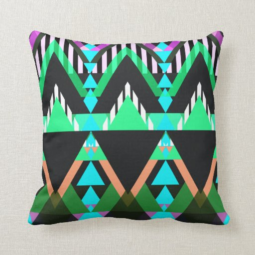 Turquoise Pop Aztec Pillows