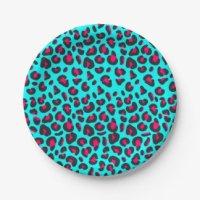 Purple Leopard Plates | Zazzle