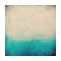Turquoise & White Ombre Distressed Watercolor Wood Wall ...