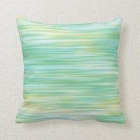 Turquoise Yellow Abstract Throw Pillow | Zazzle