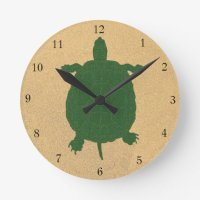 Turtle Beach Round Clock | Zazzle